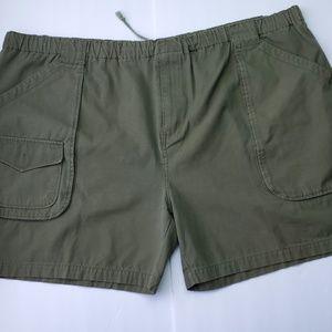 Basic Edition olive green shorts plus size 3x